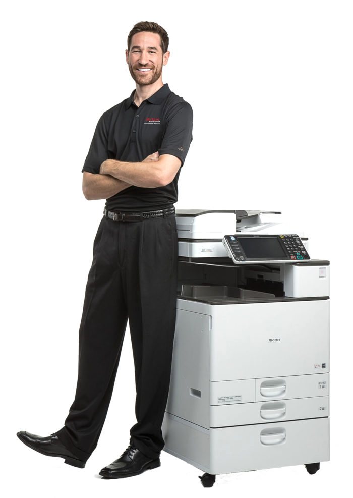 AIG Employee with Printer 700x987