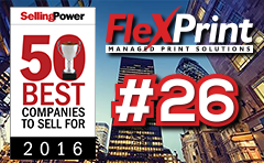 FlexPrint 2016 Selling Power 50 Best Companies To Sell For